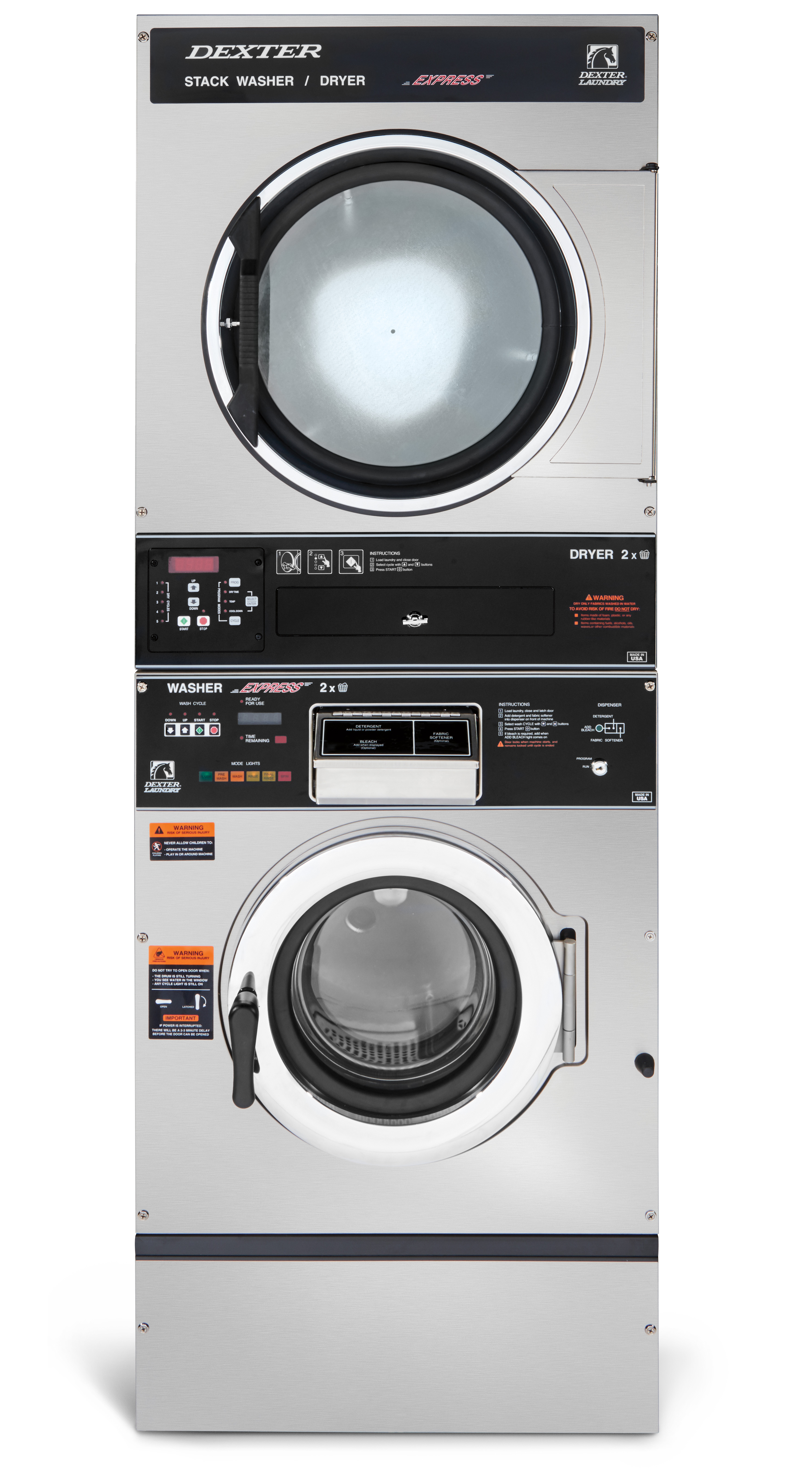 Dexter T-350 Stack Washer Dryer 6 Cycle Product Image