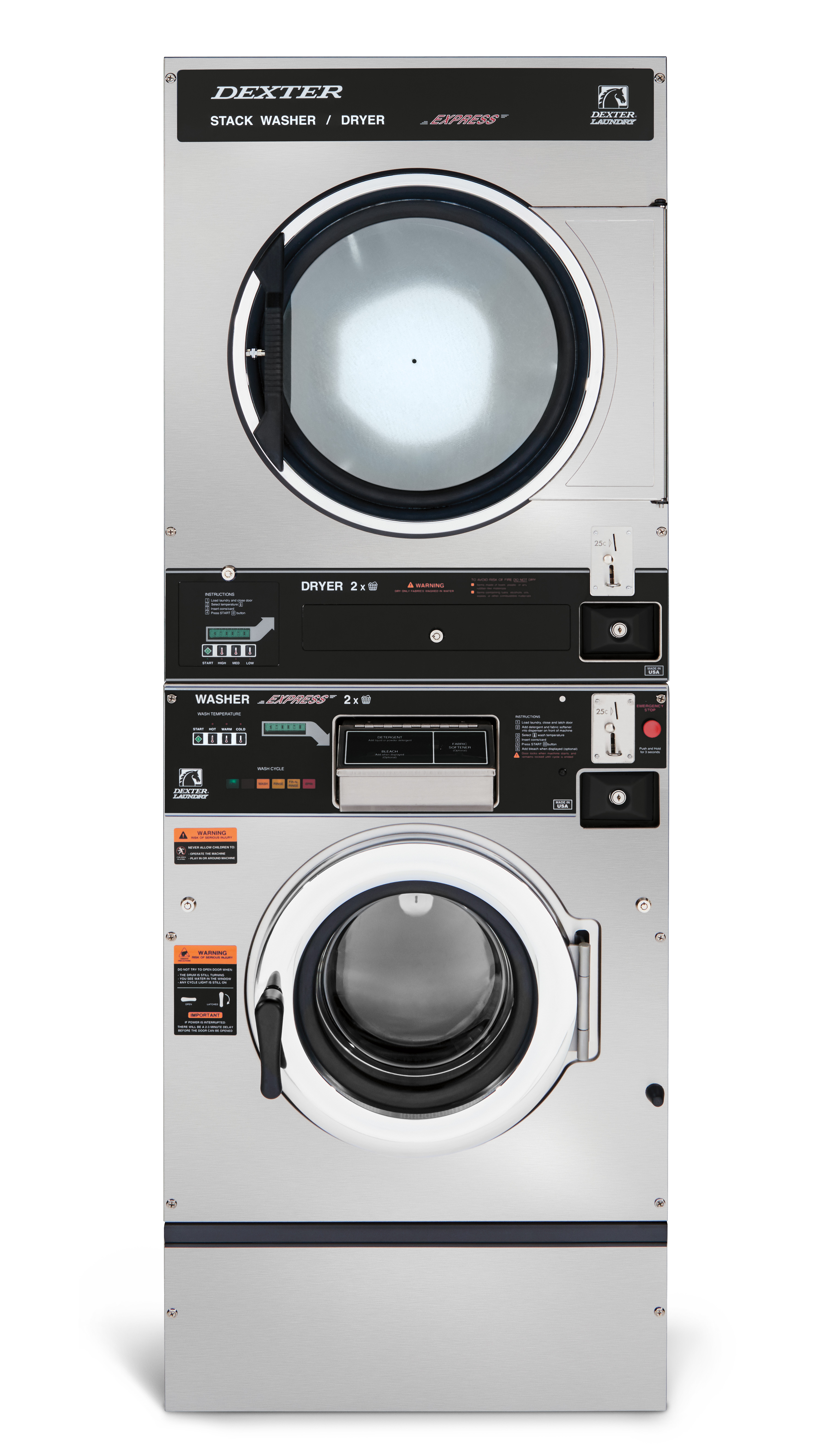 Dexter T-350 Washer Dryer Stack C Series Product Image