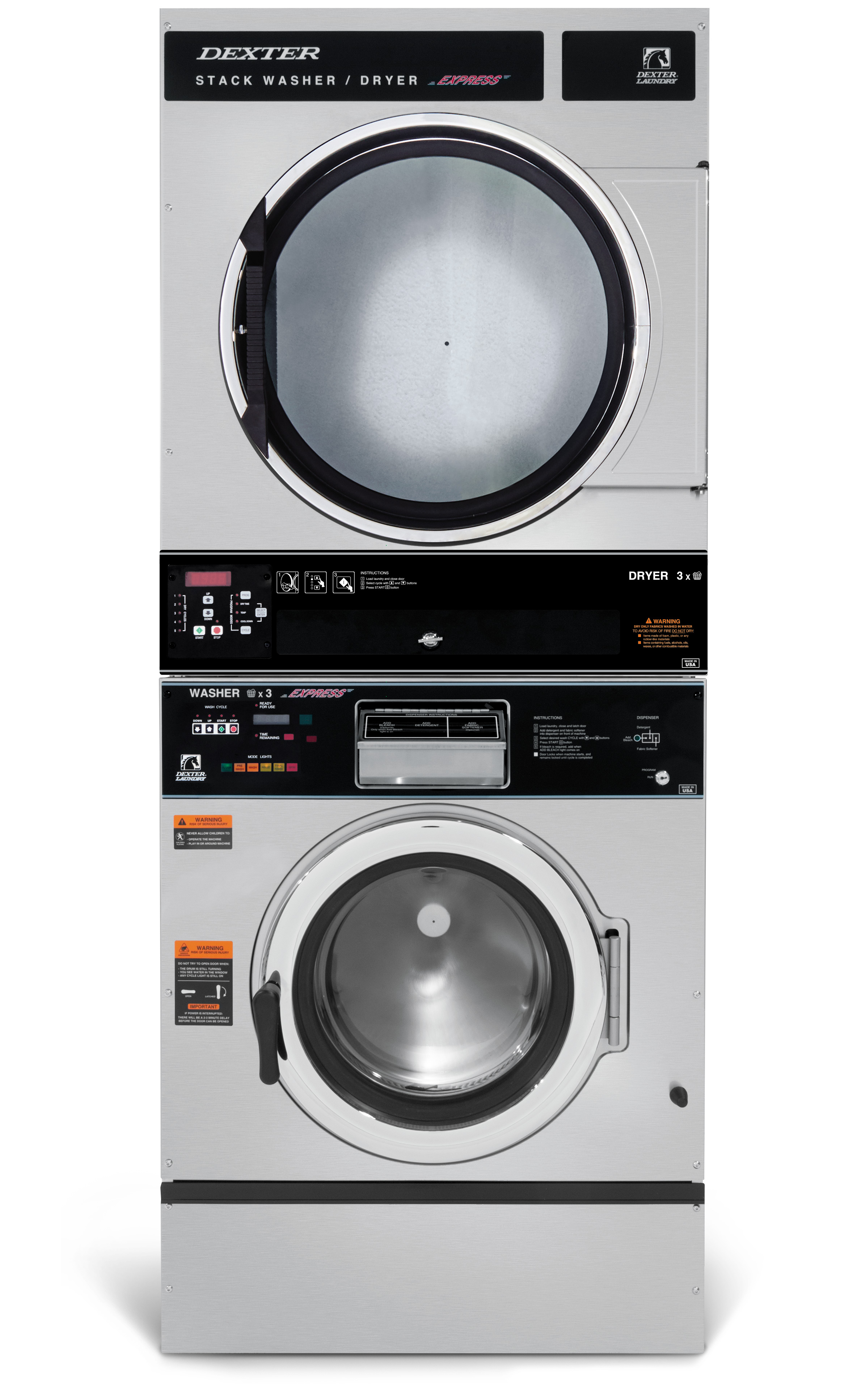 Dexter T-450 Stack Washer Dryer 6 Cycle Product Image