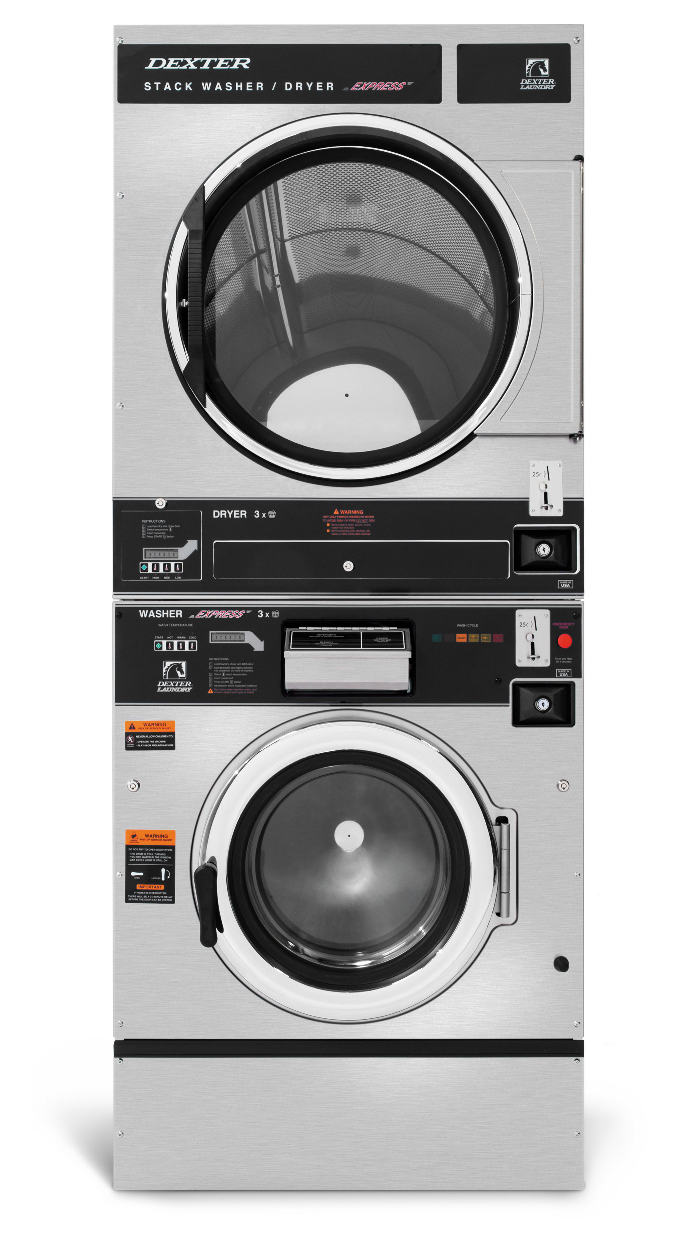 Dexter T-450 Washer Dryer Stack C Series Product Image