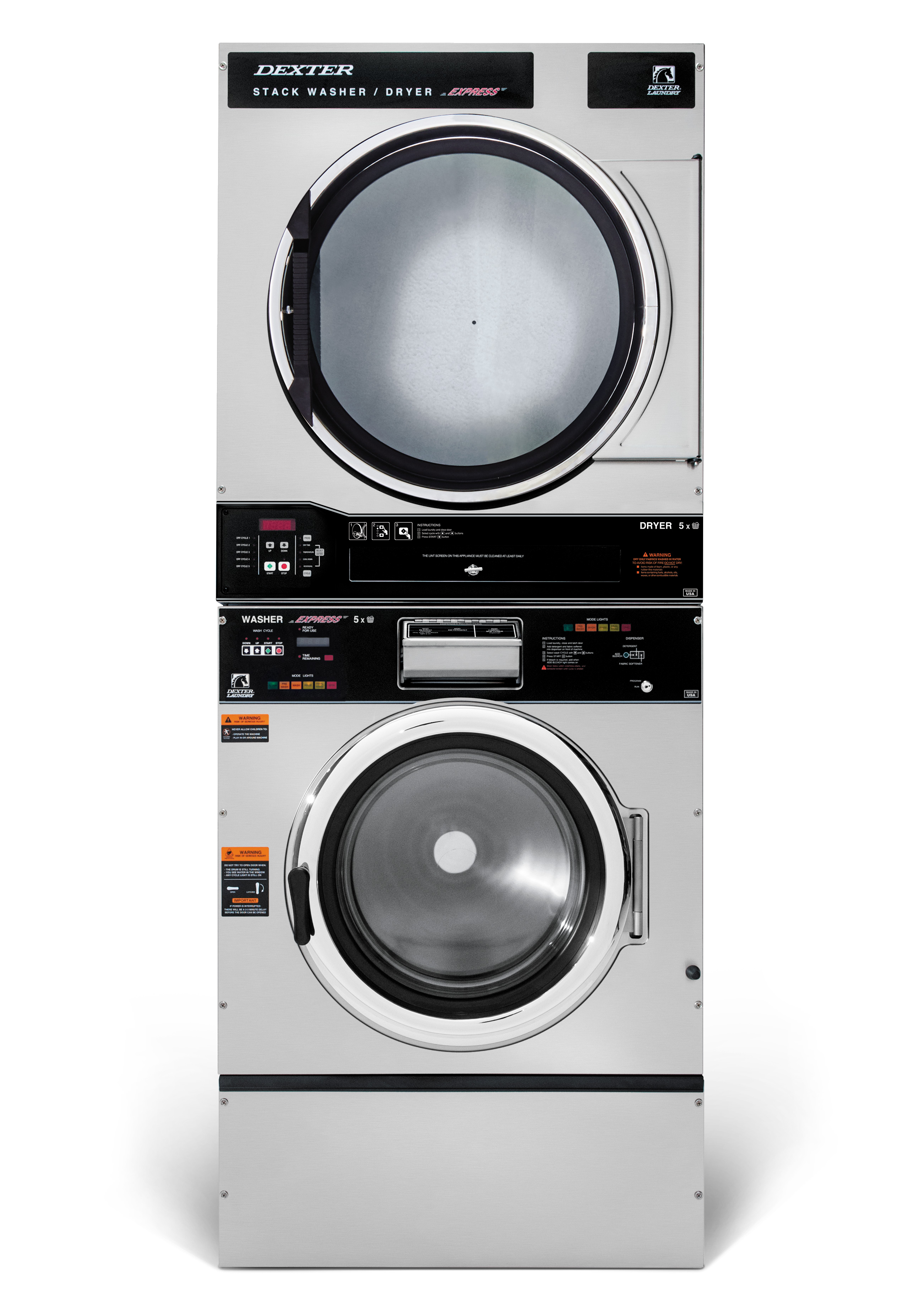 Dexter T-750 Stack Washer Dryer 6 Cycle Product Image